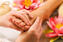 Reflexology. Library Image: Foot with Flower